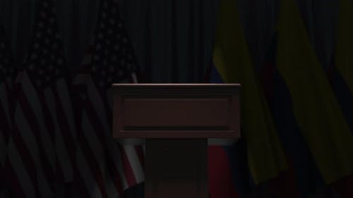 Flags of Colombia and the USA