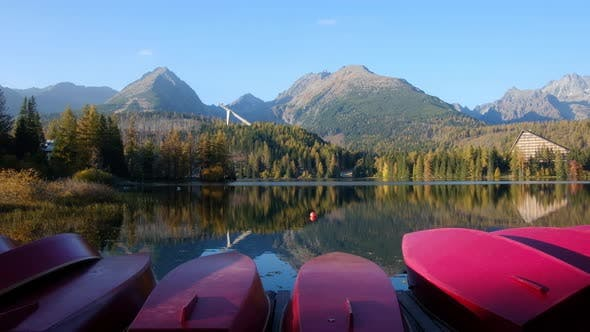 Thumbnail for Picturesque Autumn View of Lake Strbske Pleso in High Tatras National Park