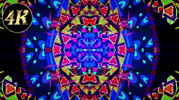 Ethnic Colorful Psychedelic 4 K
