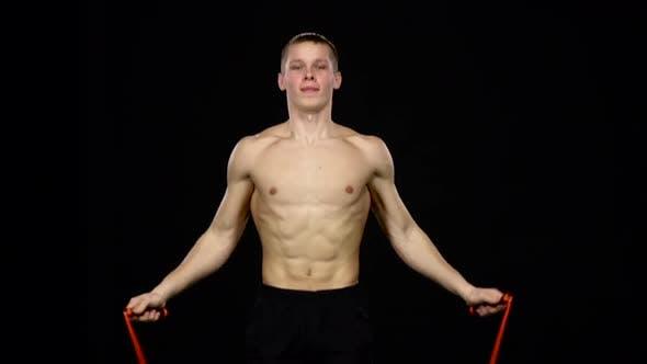 Thumbnail for Man Demonstrates Jumping Rope. Black