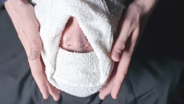 Thumbnail for Barber Using Hot Towel