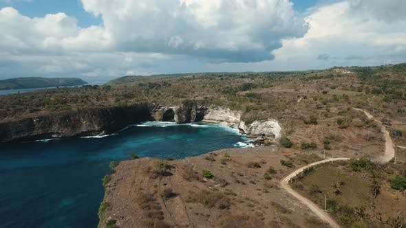 Thumbnail for Seascape Cliffs, Sea and Waves at Nusa Penida, Bali, Indonesia