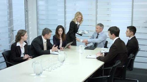 Secretary Brings Coffee
