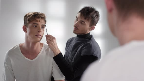 Thumbnail for Professional Male Makeup in Makeup Studio
