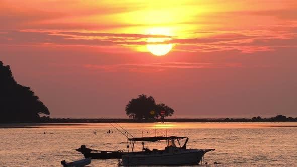 Sunset Landscape at Phuket, Timelapse