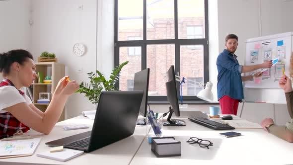 Creative Man at User Interface Presentation