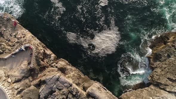 Breathtaking Landscape of Clear Blue Seawaves