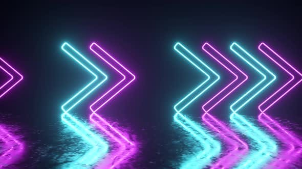 Thumbnail for Bright Neon Arrows on a Metal Surface