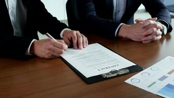 Thumbnail for Business People Sign Contract