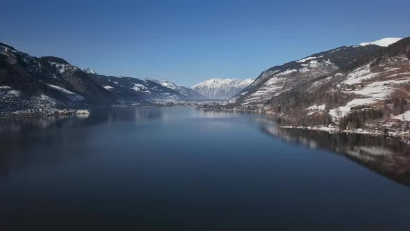 Cover Image for Aerial of Lake Zell, Austria