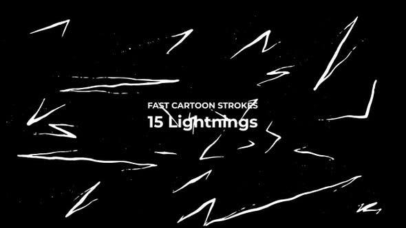 Fast Cartoon Strokes - Lightning