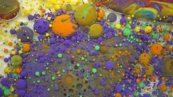 Turbulent, Colorful Paint Mix