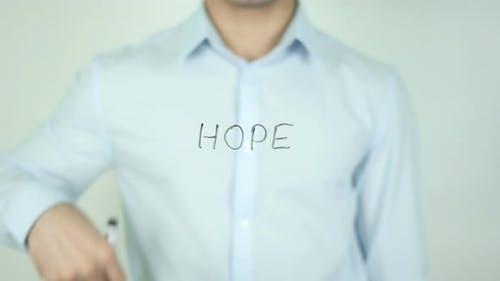 Hope, Writing On Screen