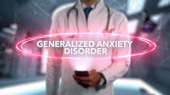 Thumbnail for Generalized Anxiety Disorder Male Doctor Hologram Illness Word