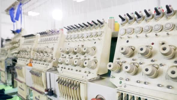 Thumbnail for Modern Sewing Machines for Cotton in a Fabric Factory