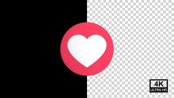 Love Facebook Reaction Emoji 4K