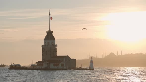 Thumbnail for Istanbul Maidens Tower Sunset
