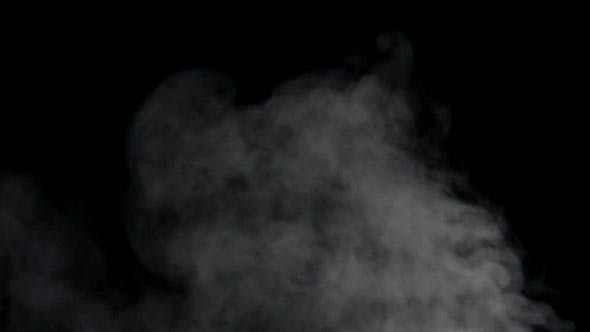 Thumbnail for Floating smoke on black background