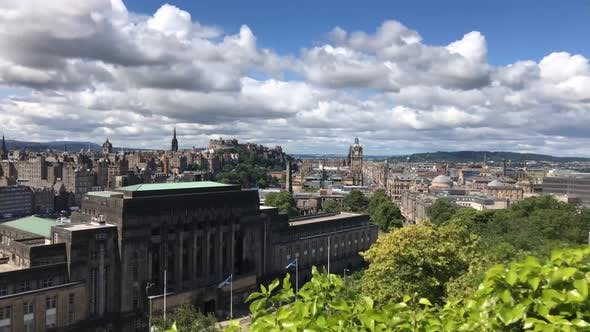Thumbnail for City time lapse from the Calton Hill