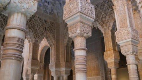 Ornate Detail Columns Found in Arabic Architecture