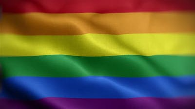 Gay Pride Flag Front