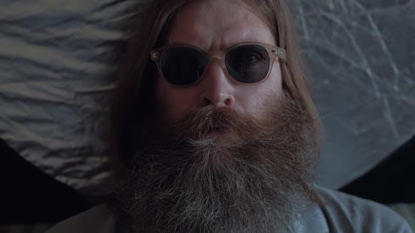 Portrait of an Elderly Man With a Gray Beard