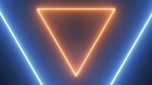 Thumbnail for Abstrakter Hintergrund mit Neondreiecken Seamless Loop