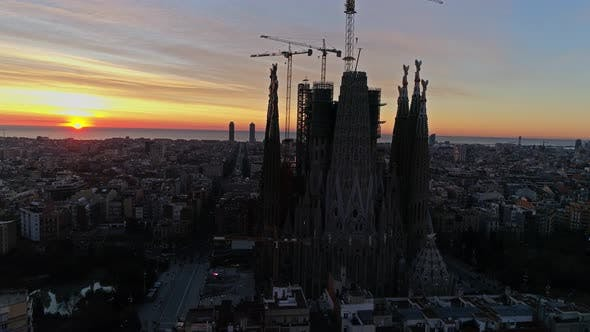 Thumbnail for Barcelona City Aerial View
