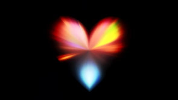 Glowing Rays Heart Prism