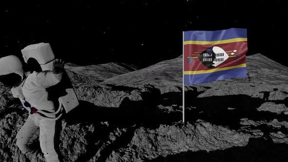 Thumbnail for Astronaut Planting Eswatini Flag on the Moon