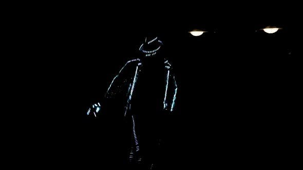 Thumbnail for A Guy in an LED Suit Dances in the Dark