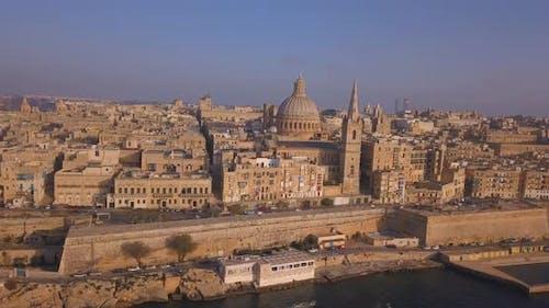 ancient capital city of Valletta in Malta