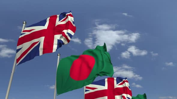 Flags of Bangladesh and the United Kingdom