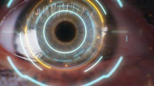 Closeup of Eye Biometric Authentication