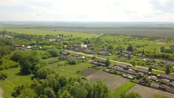 Thumbnail for Countryside Village From Above