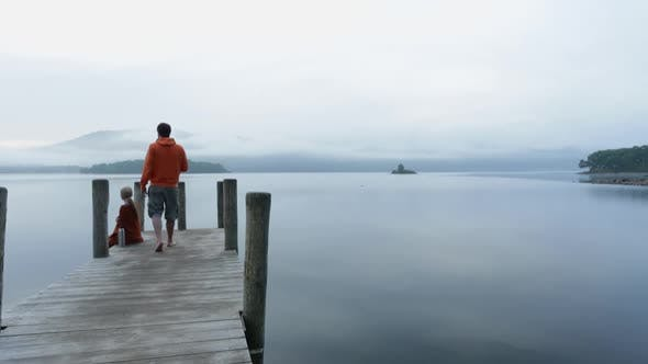 Thumbnail for Couple on jetty