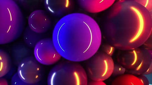 Abstract and Colorfull Dynamic Dancing Balls