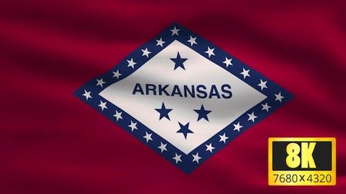 8K Arkansas State Flag Background
