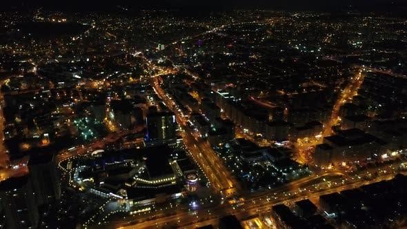 Thumbnail for Luftaufnahme von Moderne Stadt Nacht