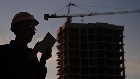 Thumbnail for Construction Manager Using Tablet on Building Site