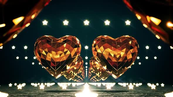 Thumbnail for Golden Disco Hearts And Stars