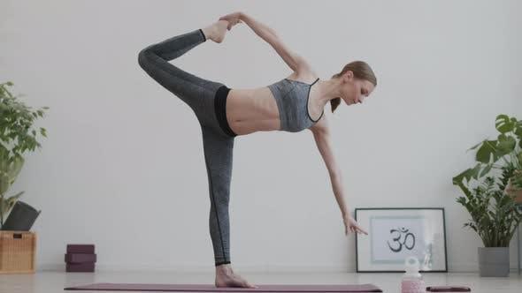Thumbnail for Blond-haired Female Yogi Having Indoor Yoga Training