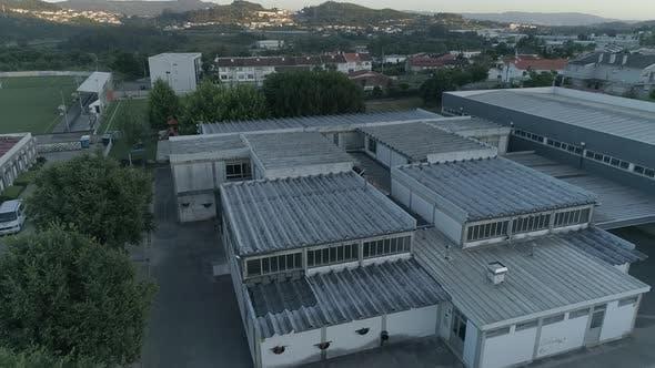 Asbestos Roof in School