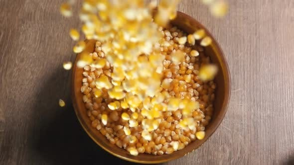 Thumbnail for Pop Corn Pouring Into a Bowl