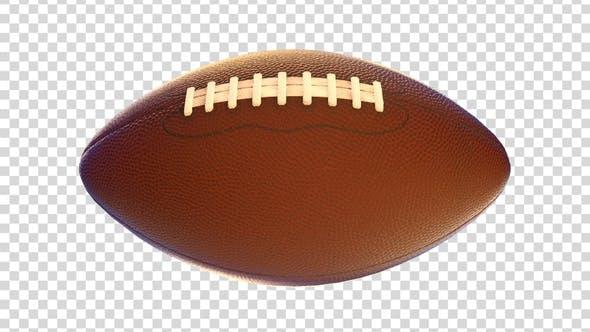 Spinning American Football Ball