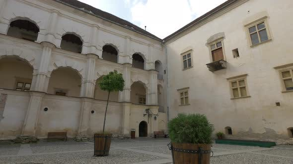 Inner courtyard of Fagaras fortress