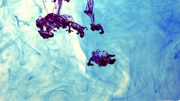 Thumbnail for Abstract Ink Drops In Aquarium Water