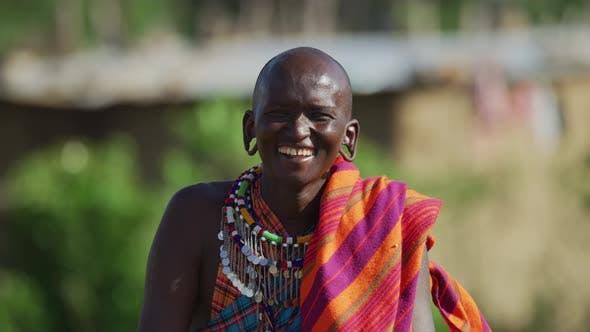 Maasai man laughing
