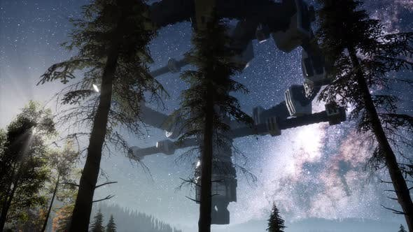 Thumbnail for UFO Hovering Over Forest