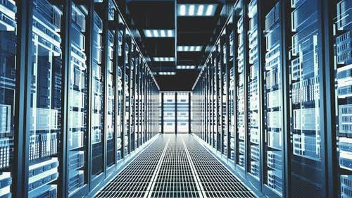 3D Futuristic Abstract Background Motion Graphic for Modern Data Center